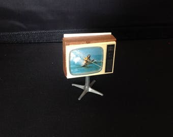 Vintage television for lundby dollshouse tv