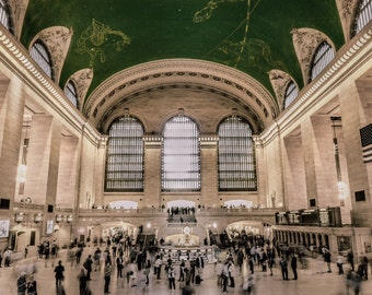 Grand Central photograph, Central station, NYC photography, New York photograph, City photograph, Grand central art, City canvas wall art