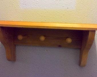 Cedar shelf with pags