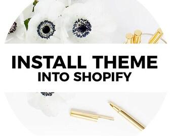 Install Shopify Theme