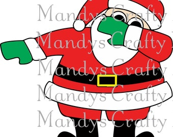 Digital file SVG and DXF Dabbing Santa