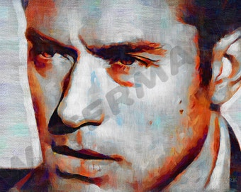 Jude Law Art Print - Oil Painting Poster  LFF0099