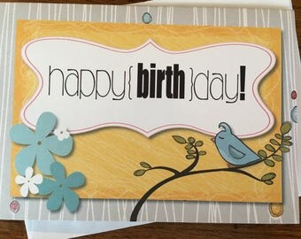 Item #90 Happy Birthday Greeting Card - This is the day the Lord has made. Psalm 118:24