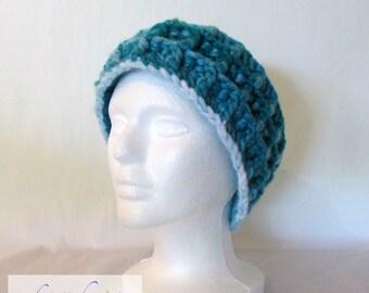 Turquoise Headband / Handmade Crochet / Women's Gift Idea / One Size / Acrylic / Nylon / Warm