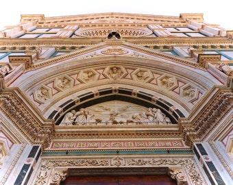 Basilica Di Santa Croce looking up Poster Print