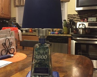 1800 silver tequila lamp