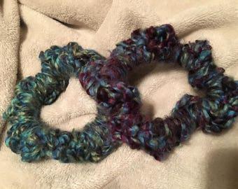 crochet hair scrunchiez(pack of 2)