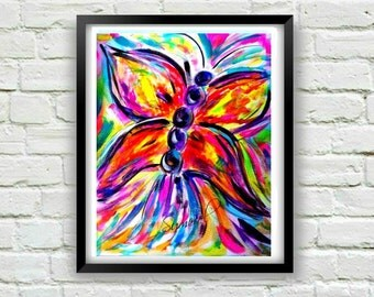 Butterfly Art-Abstract Butterfly Print-Butterfly Decor-Butterfly Wall Art-Contemporary Art- Butterfly Gift-