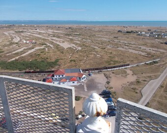A view from the old lighthouse, Dungeness, Kent, England.