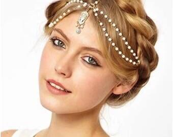 Bohemian/Turkish Gold, White & Gem Head Statement Jewelry