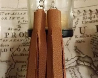 Distinquished Leather Fringe earrings