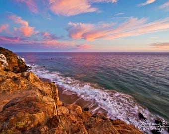 "Malibu Beach Photo | ""Point Dume Sunset"" | California State Beach Sunset | Malibu Wall Art - Malibu Home Decor - Malibu Beach Sunset Photo"