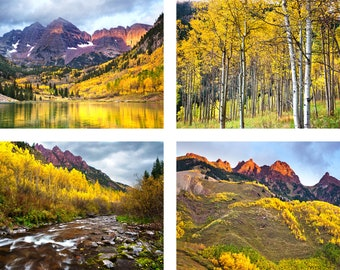 "Aspen Photo Set | ""Maroon Bells Autumn Set"" 