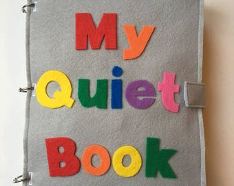 Customized Quiet Book, Felt Books, Quiet Book Page, Personalized, Busy Book, Learning Activity, Educational Gift, Birthday, Christmas Gifts