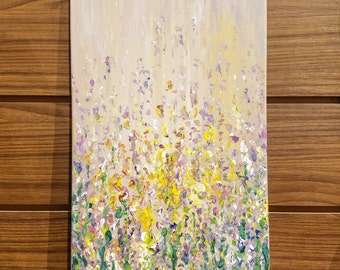Rain in Spring: Abstract Floral