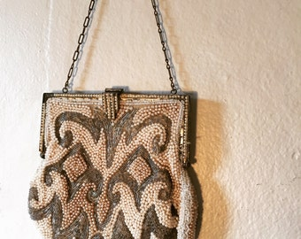 vintage beaded clasp evening purse