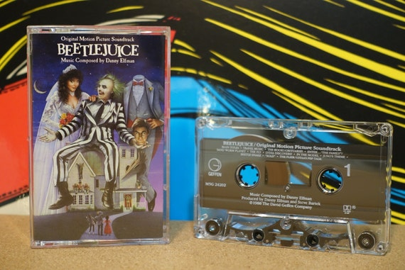 Beetlejuice (Original Motion Picture Soundtrack) by Danny Elfman Vintage Cassette Tape