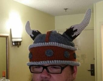 Crocheted Viking Helmet