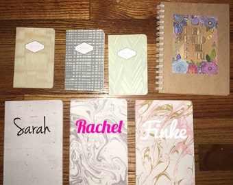 Personalized journal notebook with name