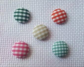 SALE: Small gingham fabric needle minder