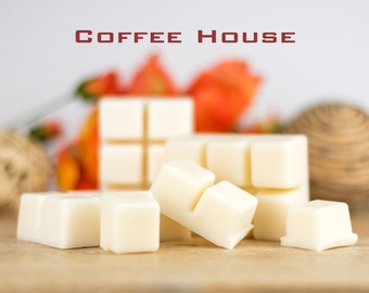 Coffee Scented Soy Wax Melts - Home & Room Fragrance - Coffee House with Sugar and Vanilla Notes - Hand Poured Wax Tarts - Made in Australia