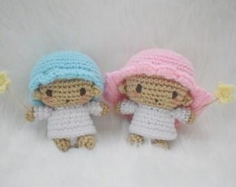 Amigurumi Crochet Little Twin Stars   Crochet Dolls   Crochet Toys   Little Twin Stars Dolls   Crochet Kiki and Lala   Crocheted Sanrio Doll