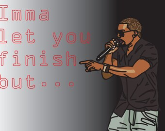Kanye West Funny Post Card