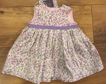 Floral Baby Girl Dress - Handmade 0-3 months /newborn