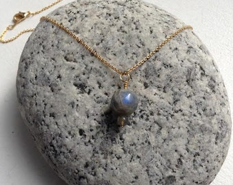 Labradorite - Necklace - 10mm Round Bead - For self-confidence, & protection