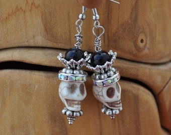 Day of the Dead Earrings style #22