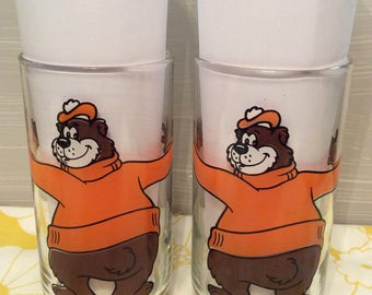 2 ~ Vintage A & W Root Beer Glasses ~Family Restaurant Drinking Glasses ~ Drinkware