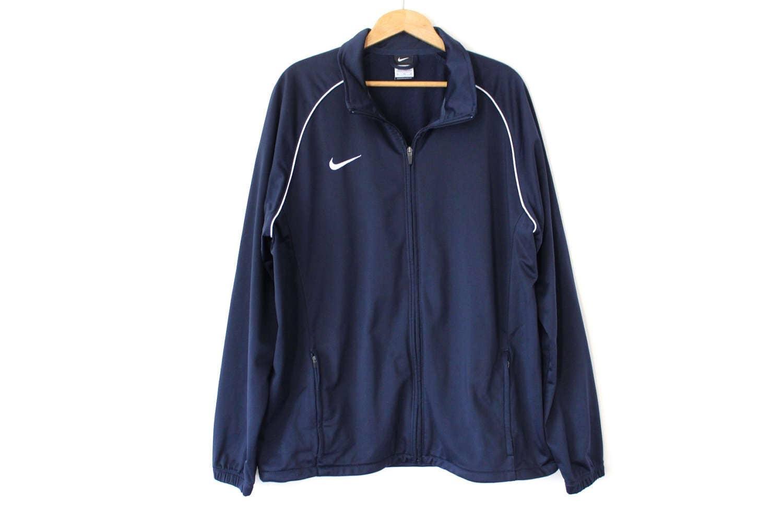 Nike jacket baseball - Vintage Nike Jacket Blue Nike Track Top Large Sport Sweater Unisex Nike Tracksuit