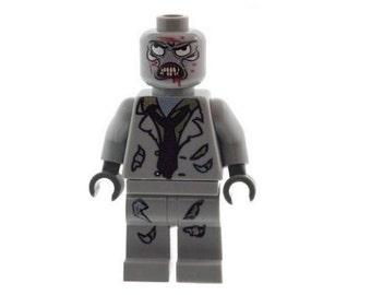 Custom Designed Minifigure - Zombie Monster C (Horror - Halloween) Printed On LEGO Parts