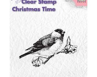 Buffer clear transparent scrapbooking Nellie's Choice Bird on branch