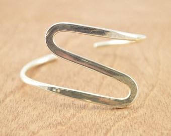 Wavy Cuff Bracelet Sterling Silver 19.2g