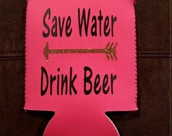 Save water drink beer can cooler