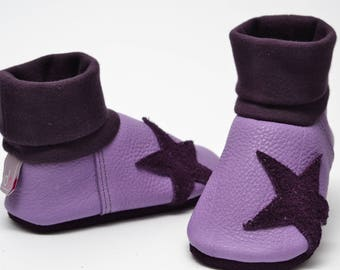 Organic leather baby shoes slippers, baby shoes,.
