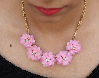 Rose handmade Indian Necklace, Bib Statement Necklace, Choker Necklace, Goth Necklace, Collar Necklace, Boho Tribal, Bridesmaid Necklace