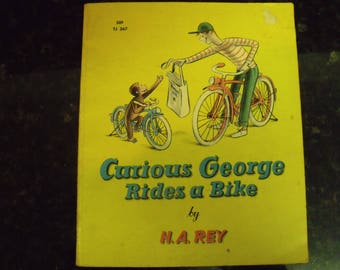 Vintage Book • Curious George Rides a Bike • First Edition / Printing