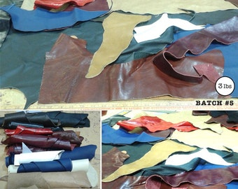Leather Scraps (3lbs) for DIY Projects, Batch #5
