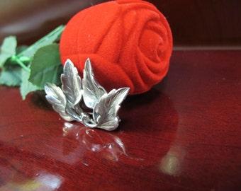 Hand made flower brooch sterling silver