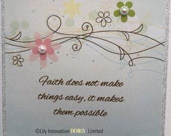 Inspirational Blank Card - Handmade