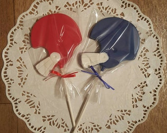 Football, Super Bowl Chocolate Lollipops - set of 12