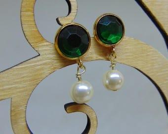 Kate Middleton Inspired Crystal & Pearl Drop Earrings