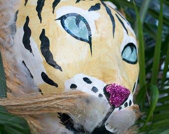 African Tiger Mask Decor