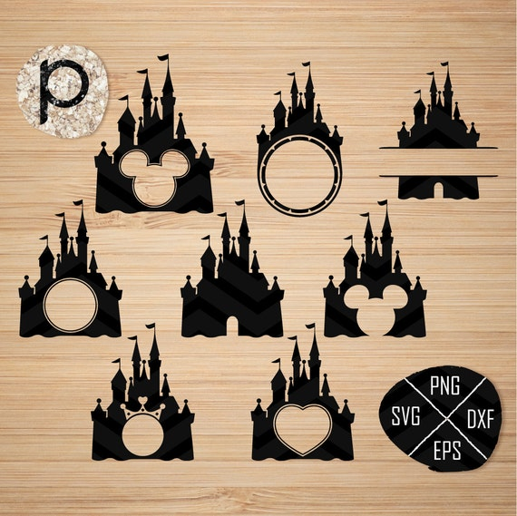 Disney Castle Svg*disney Svg*disney Monogram Svg*princess