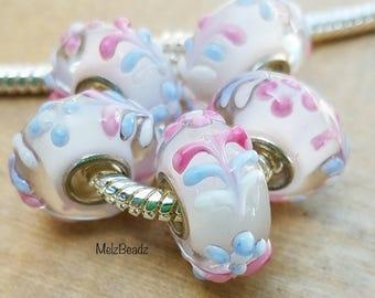 Lampwork glass bead,Murano bead,European lampwork bead,large hole bead,large bead,large hole bead, pandora style beads, pandora beads