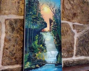 Original art, oil painting, canvas painting, wall art, original painting, hand painted traditional art, landscape , framed art