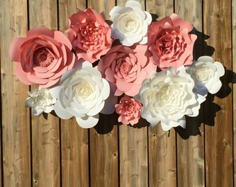 Giant 3D Paper Flower Wall Backdrop, Large Paper Flowers