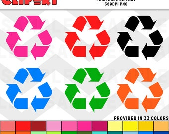 Recycle Symbol Clipart Color Pack